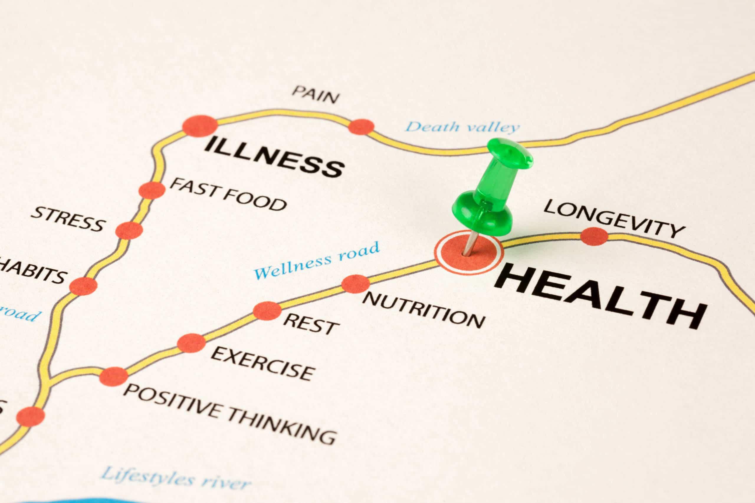 chronic diseases map graphic